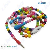 necklace earphone_Diamond earphone_pearl earbuds-Shenzhen Earphone factory