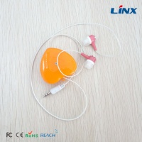 cartoon retractable earphones with customer logo for sports