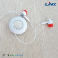 color retractable earbuds with custom logo for sports