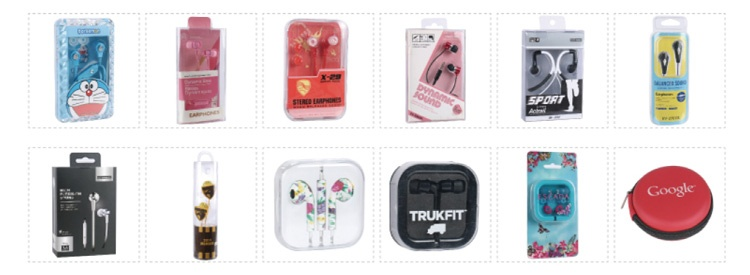 Packages of wired earphone