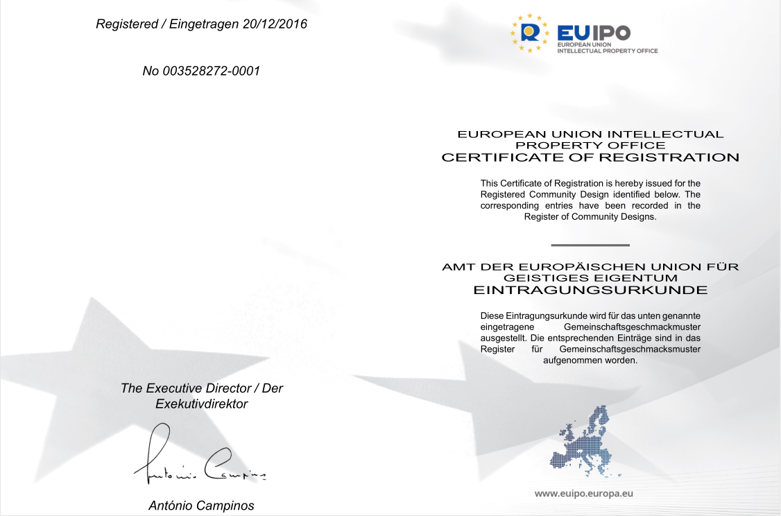 European  Union Certificate of Registration