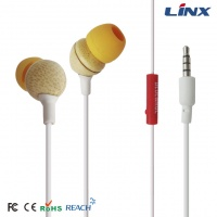 Wooden earphone with high sound quality_wood earbuds_popular wood earphone for iphone 6 W001