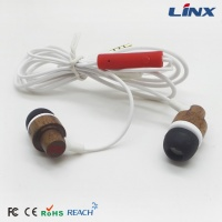 china brand wooden earphone_OEM fashion wood earbuds_iphone 6 wooden earphone with mic W002