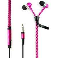 mp3 mp4 colourful promotional zipper earbuds