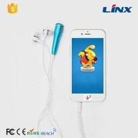 Fashion PVC Mobliephone earphone with independent Microphone LX-E062 Wholesale