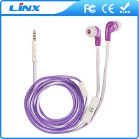 LX-E035 hot selling fancy wired mobile phone earphone with mic